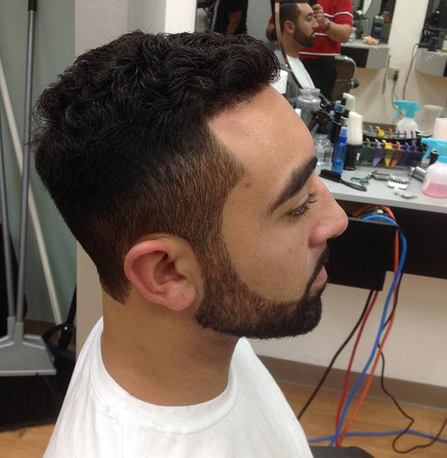 men's cut right profile